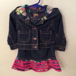 Oshkosh 2pc denim dress w/jacket. Size 12 Mo.